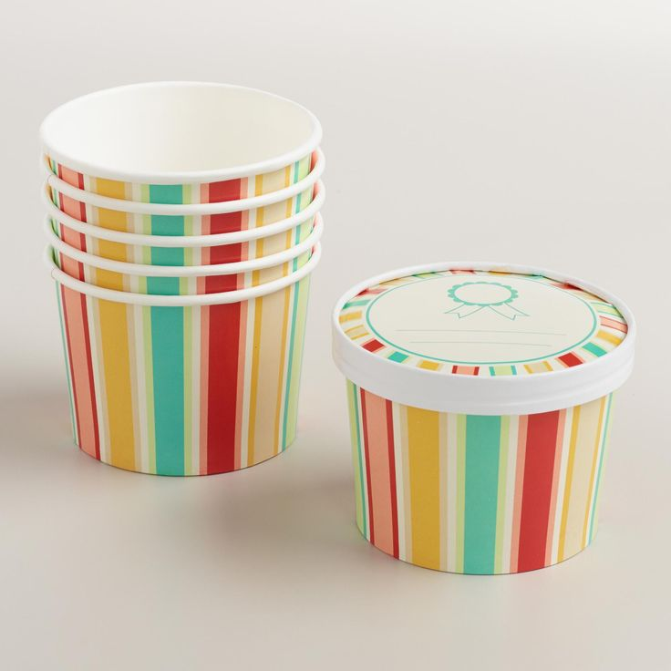 Featuring our exclusive design, our affordable pack of ice cream cups is a cute way to serve ice cream and store the rest for later. >> #WorldMarket #Summer #Recipes #WorldMarketLove4Outdoors