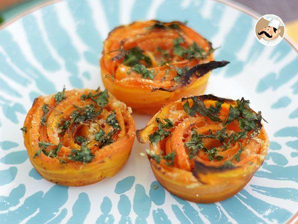 Rosas de zanahoria y parmesano, Receta Petitchef