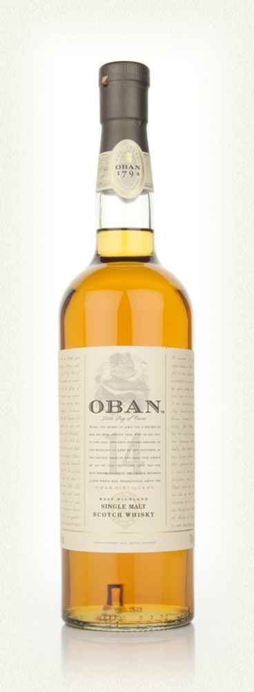 Master, Silver and Gold awards Oban 14yr Scotch Whiskey has a rich and smokey nose, the finish is of good length with fruit and dry oak. || Oban 14 Year Old