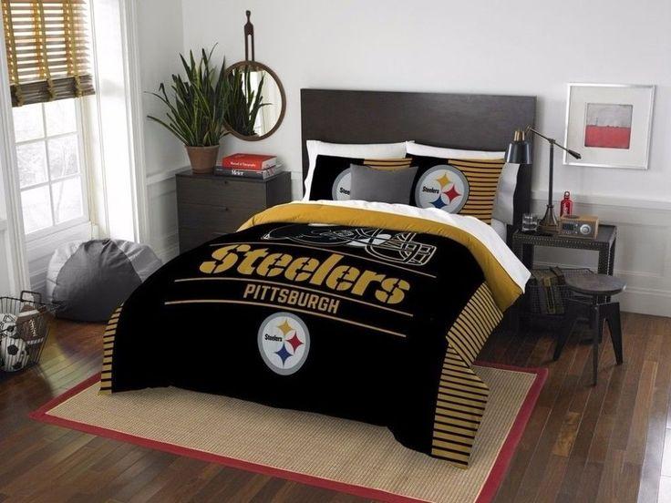 NFL Pittsburgh Steelers Draft Full/Queen Three Piece Comforter Set New #TheNorthwestCo