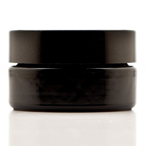 Infinity Jars 30 Ml 1 fl oz Cosmetic Style Black Ultraviolet Glass Screw Top Jar *** Click image for more details.
