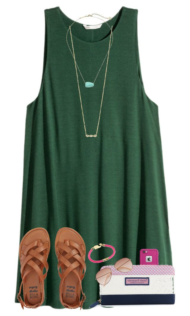 """Follow me on Insta~~@maribethreilly"" by ponyboysgirlfriend ❤ liked on Polyvore featuring ZoÃ« Chicco, Kendra Scott, Billabong, LifeProof, Vineyard Vines and H&M"