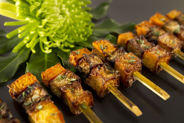 Roast Winter Vegetable Skewers. http://www.canapebox.co.uk/canapes/vegetable