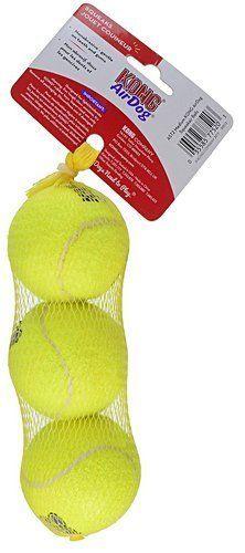 Dog-Tennis-Balls-Air-Squeakair-Fetch-Toy-Fun-3-Pack-Dogs-Medium-Squeaker-Yellow