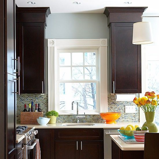 Dark kitchen cabinets, Dark kitchens and Kitchen cabinets on Pinterest