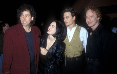 Tim Burton, Winona Ryder, Johnny Depp and Danny Elfman. (1990) SO much greatness in this picture, i just cant take it.