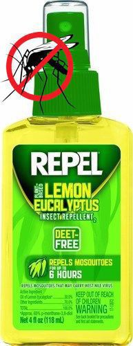 Repel Mosquito Repellent Vector Control Lemon Eucalyptus 4 Oz Pump Spray 6-Pack  #Repel