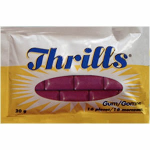 Canadian Food Icons - Thrills - the little purple gum that tastes like soap - they're either loved or hated, no in between