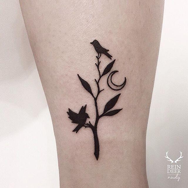 나무와 새와 달