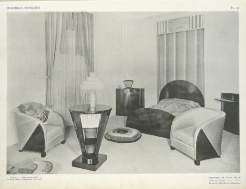 Girlu0027s Bedroom, 1925. Art Deco ...