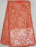 100% полиэфир чистый цвет блёстки кружевная ткань африканский французский кружевная ткань с блёстки для ну вечеринку платье L235