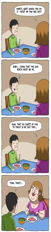 EPIC Relationship Trust Issues #Relationship #Comics #Humor