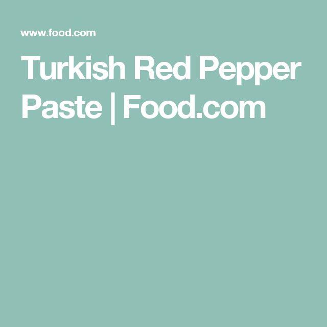 Turkish Red Pepper Paste | Food.com
