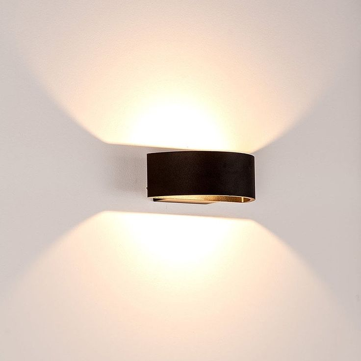 154 matt black half circle up down wall light lighting collective