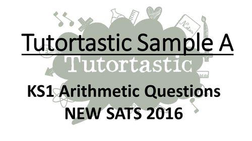 KS1 SATS 2016 Arithmetic Sample A PowerPoint - Whole class SATS revision