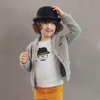 emileetidaD713えり付きグレーカーディガン男の子子ども服女の子長袖スウェットフランス子供服