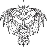 really cool coloring pages d steampunk alchemy design pack urban threads