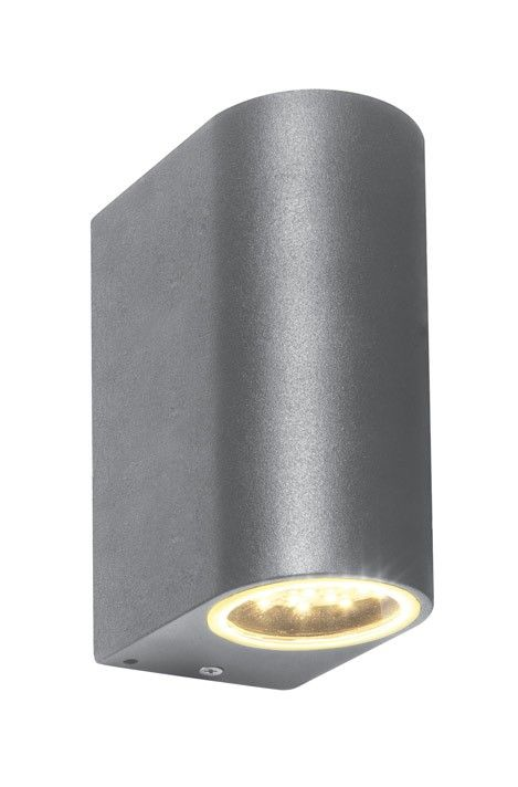 Textured Grey 3.5W LED IP44 Up & Down Garden Wall Light
