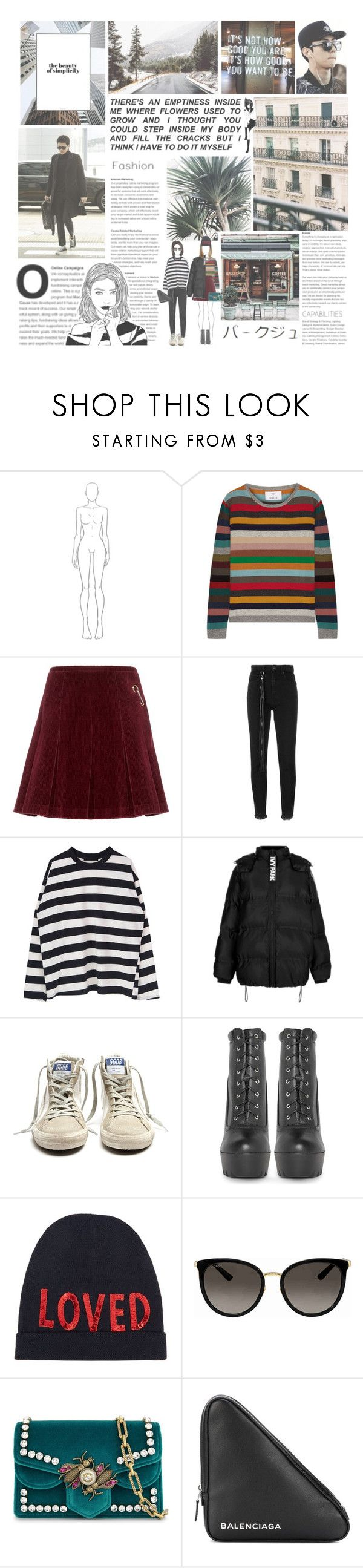 """dusk till dawn"" by luhansolo ❤ liked on Polyvore featuring Coffee Shop, Allude, Shrimps, Golden Goose, Topshop, Gucci and Balenciaga"