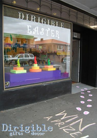 Follow the Easter Bunny footprints to be delighted and surprised by Dirigible's Easter Emporium