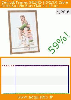 Deknudt Frames S41JH2-9.0X13.0 Cadre Photo Bois Fin Brun Clair 9 x 13 cm (Housewares). Réduction de 59%! Prix actuel 4,20 €, l'ancien prix était de 10,29 €. http://www.adquisitio.fr/deknudt-frames/s41jh2-90x130-cadre-photo