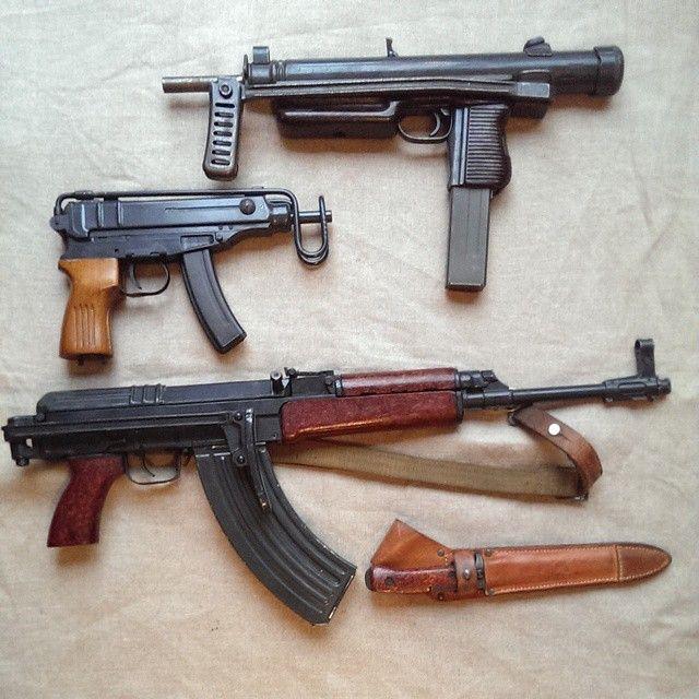 Sa. VZ 26 - 7.62x25mm Sa. VZ 61 - .32 ACP Sa. VZ 58 - 7.62x38mm
