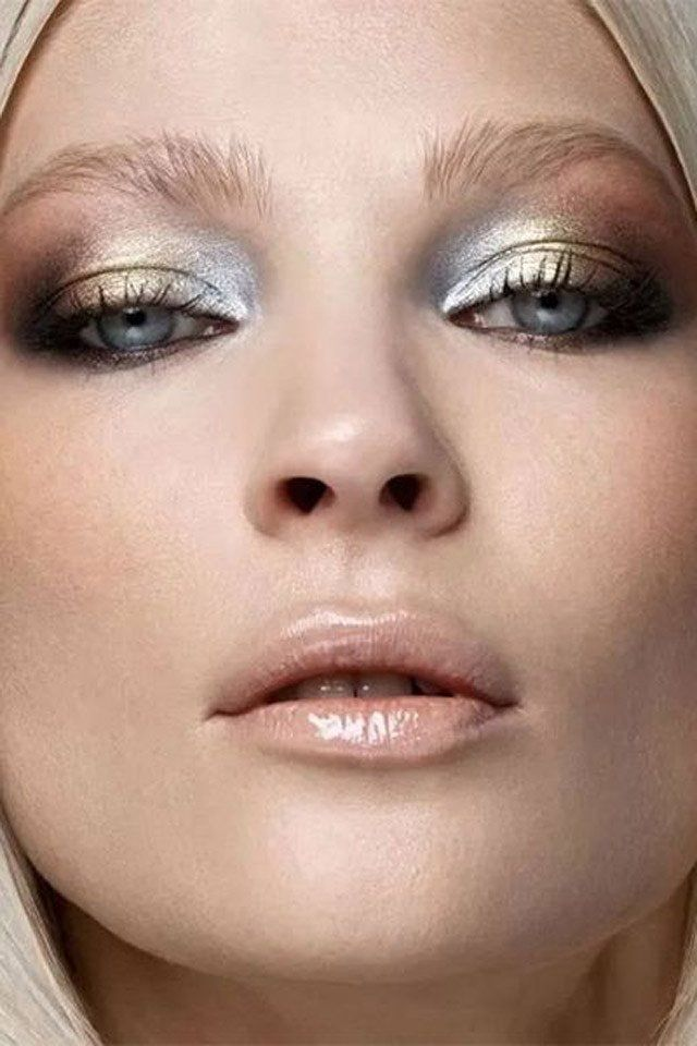 All that glitters is not gold, but you can sure get close with this metallic smoky eye! Try RMS Lunar, Solar and Karma for the full effect. And a nice glossy lip try Ilia in White rabbit