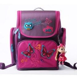 Well-Crafted Cute 3D Polyester Cartoon Children's Backpack w/Doll Accent 4 Colors
