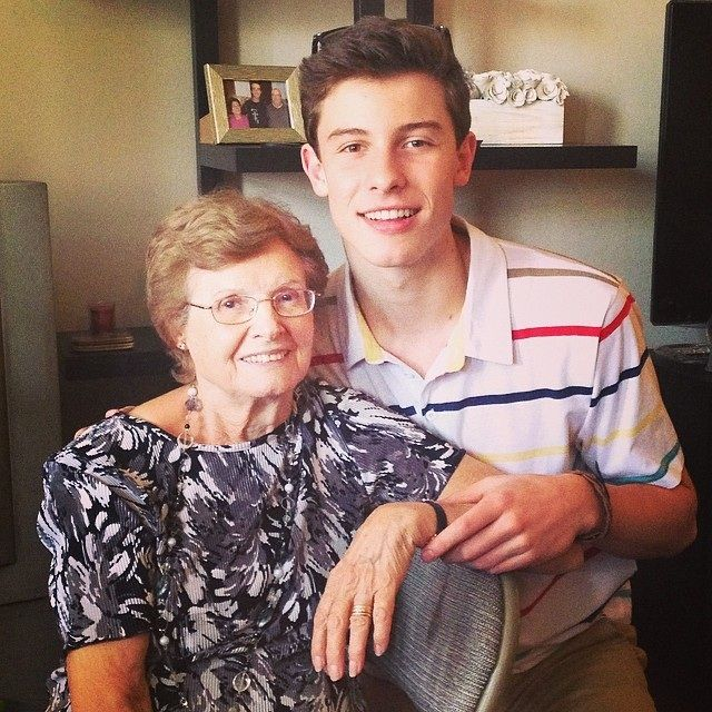 He loves his Grandma so much and so does Aaliyah omg I just love their family!!