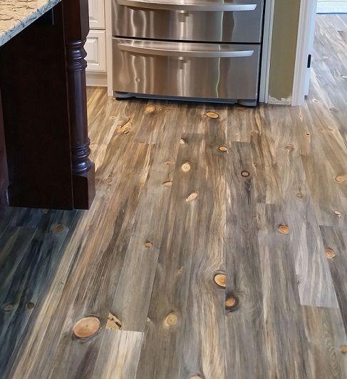 Blue Kitchen Flooring Ideas: Blue Pine Kitchen Floors From SNWWOOD