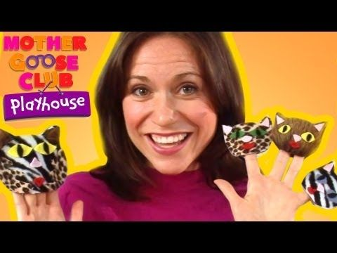 Three Little Kittens song from Mother Goose Club--woman sings with finger puppets