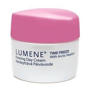 Lumene Time Freeze Firming Day Cream with Arctic Heather Normal/dry Skin 50ml by Lumene. $15.99. Lumene Time Freeze Firming Day Cream 1.7 fl oz. A youth-preserving day cream for all skin types. Freeze time with this revitalizing cream from Lumene. Time Freeze Firming Day Cream is formulated for all skin types to instantly moisturize and firm while preserving youthful freshness. Patented microspheres and arctic ingredients instantly and progressively smooth fine lines and wr...