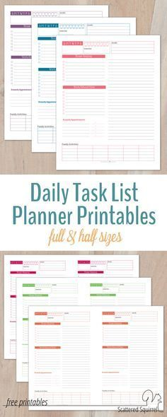 Daily Task Planner Template Recurring Tasks Planning Tips Ideas - daily task planner template