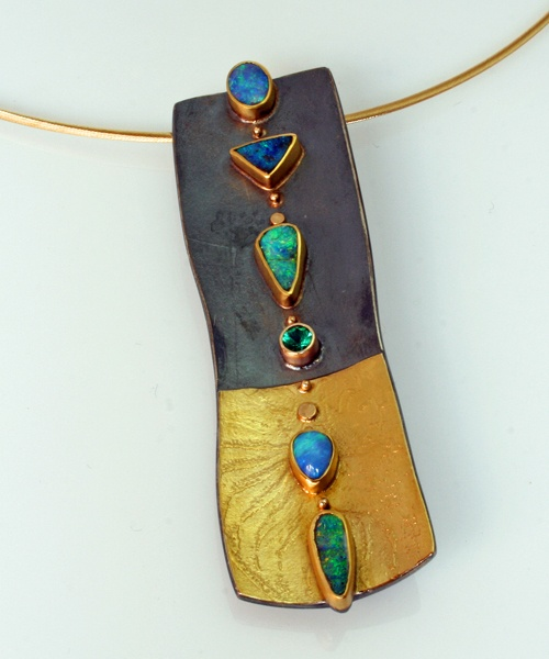 Sydney Lynch - Opal Fossil Pin/Pendant