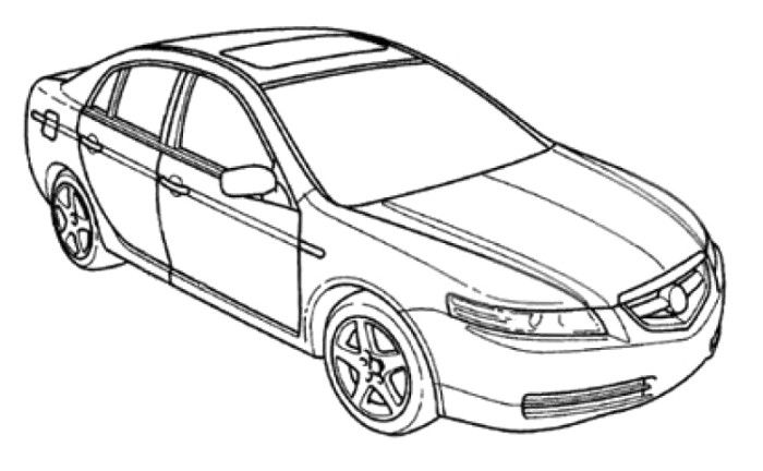 Acura ILX Hybrid Coloring Page