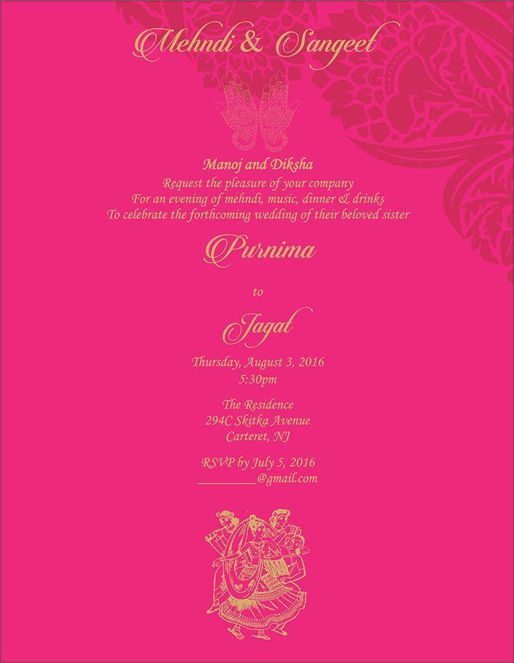 Quotes On Mehndi Ceremony : Wedding invitation wording for sangeet and mehndi ceremony