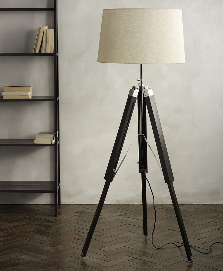 Dark tripod floor lamp base