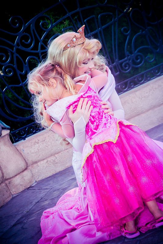 Aurora  what I love about face characters at WDW is that when ever you hug them, they hug you back