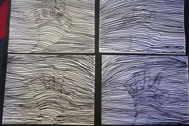 Hand optical illusion - Grade 4, grade 5, art, crafts, etc.
