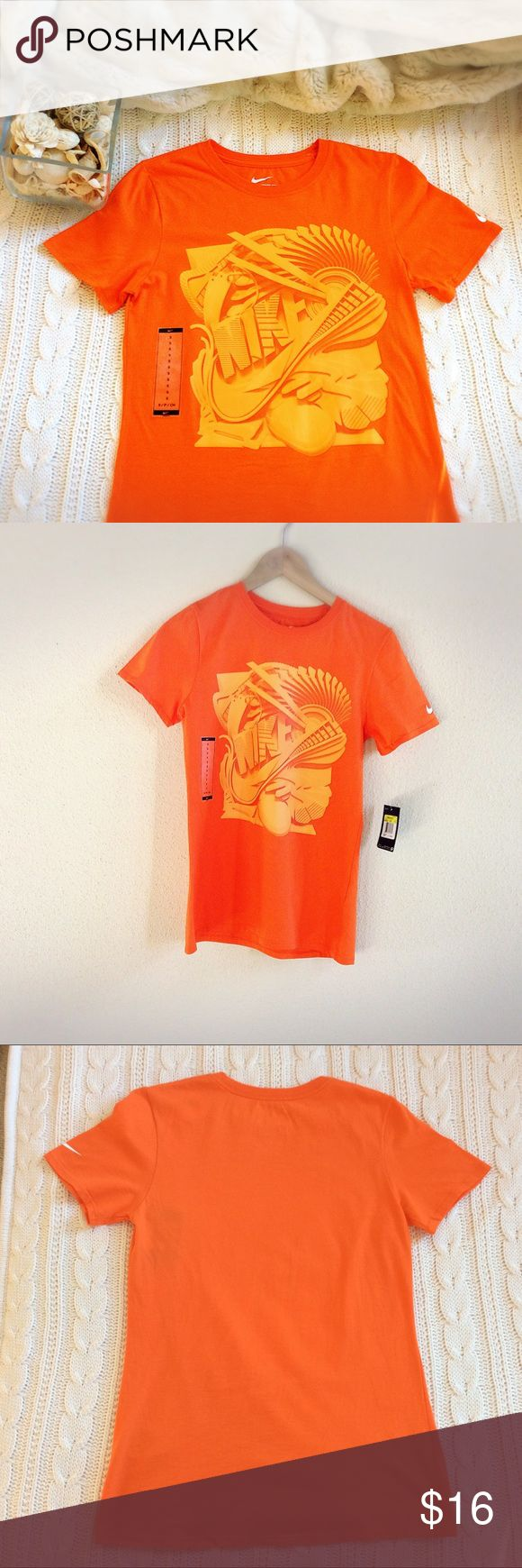 NWT Nike Orange Woman Tee Nike Wiman Orange Tee T-shirt, short sleeve, size S, New with tag, Machine wash cold Nike Tops Tees - Short Sleeve