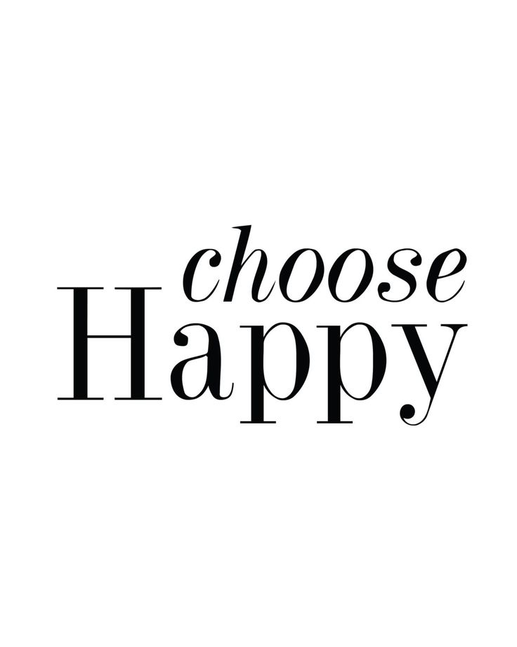 Choose Happy Print
