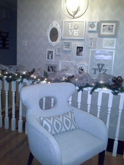 Adapter son décor pour les fêtes.  Une douceur en camaïeu de gris.