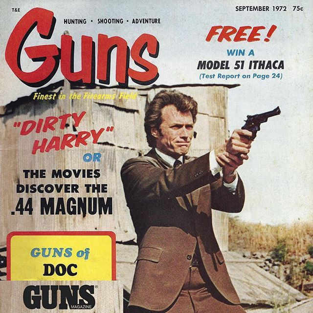 Flash forward: Dirty Harry for President 2020. He'll put a .44 magnum in every home and won't put up with any 💩. Will he get your vote? ---------- #fridayfunny #gunsmagazine #igmilitia #merica #murica #44magnum #wheelguns #secondamendment #righttobeararms #gunvote