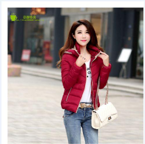 Winter Jacket Women Hooded Down cotton short Coat Woman Clothes Ladies Parka