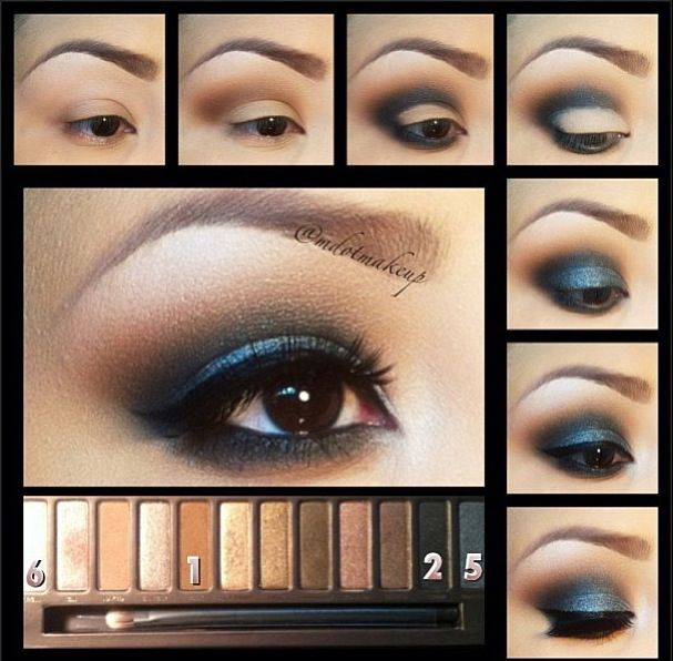 """Gorgeous """"night out"""" eye look using the naked palette! Perfect for that smokey touch."""
