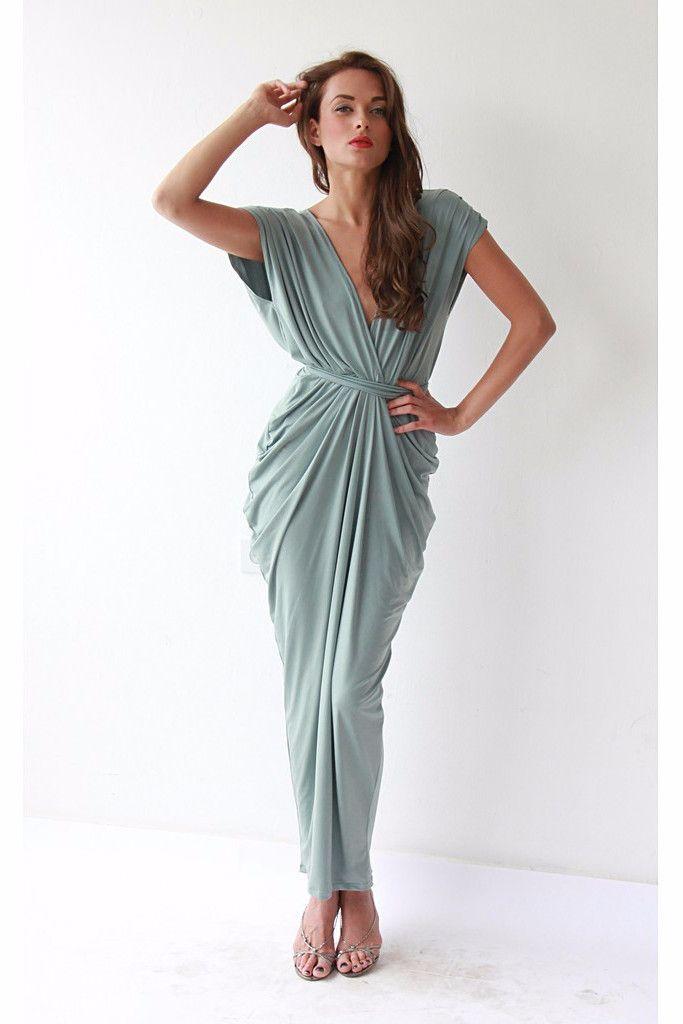 Mint Maxi Dress,Pistachio Dress, Maxi Dresses, Bridesmaid Dress, Formal Dress, Party Dress LAVELIQ
