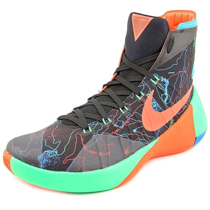Stylish and on-trend these Nike Men's Hyperdunk 2015 Prm Black/ Orange/G Shck Basketball Shoe are a must-have addition to your wardrobe. Made from synthetic, these black basketball shoes are comfortab