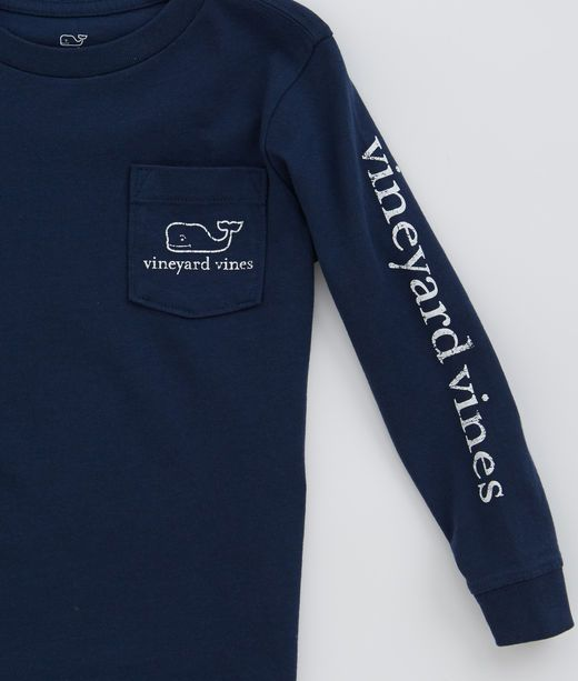 Long-Sleeve Vintage Whale Graphic T-Shirt at vineyard vines. ✔️