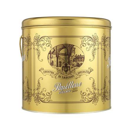Chiostro di Saronno Panettone in Gold Tin, 1kg clearance edit