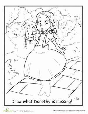 Dorothy And Toto Coloring Page